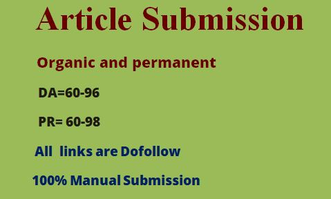 10 article submission backlink as link building on off page seo in high authority sites
