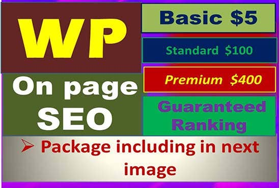 We will do wordpress on page seo to rank your website with yoast plugin