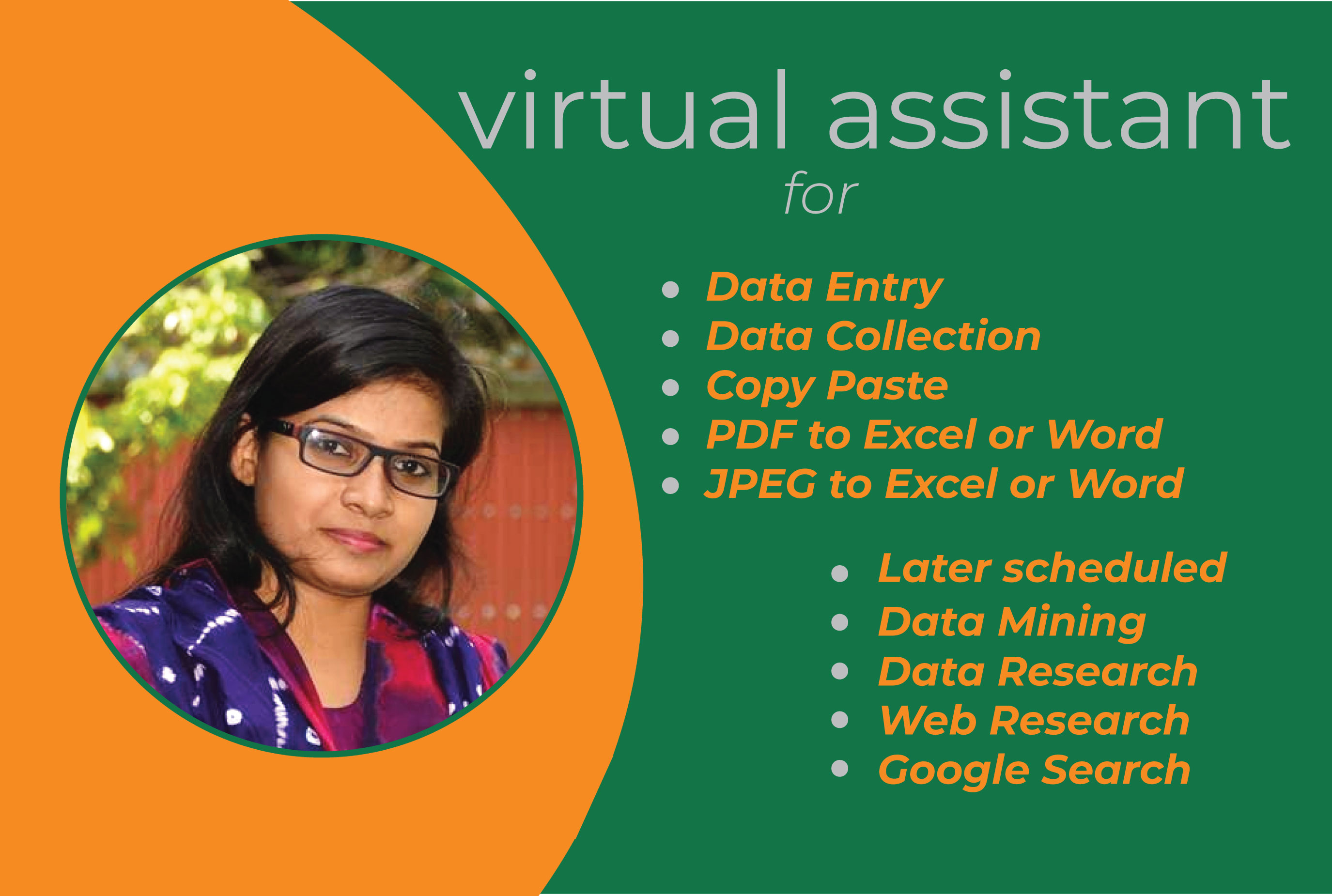 I will be your virtual assistant for any type of Microsoft Word and Excel
