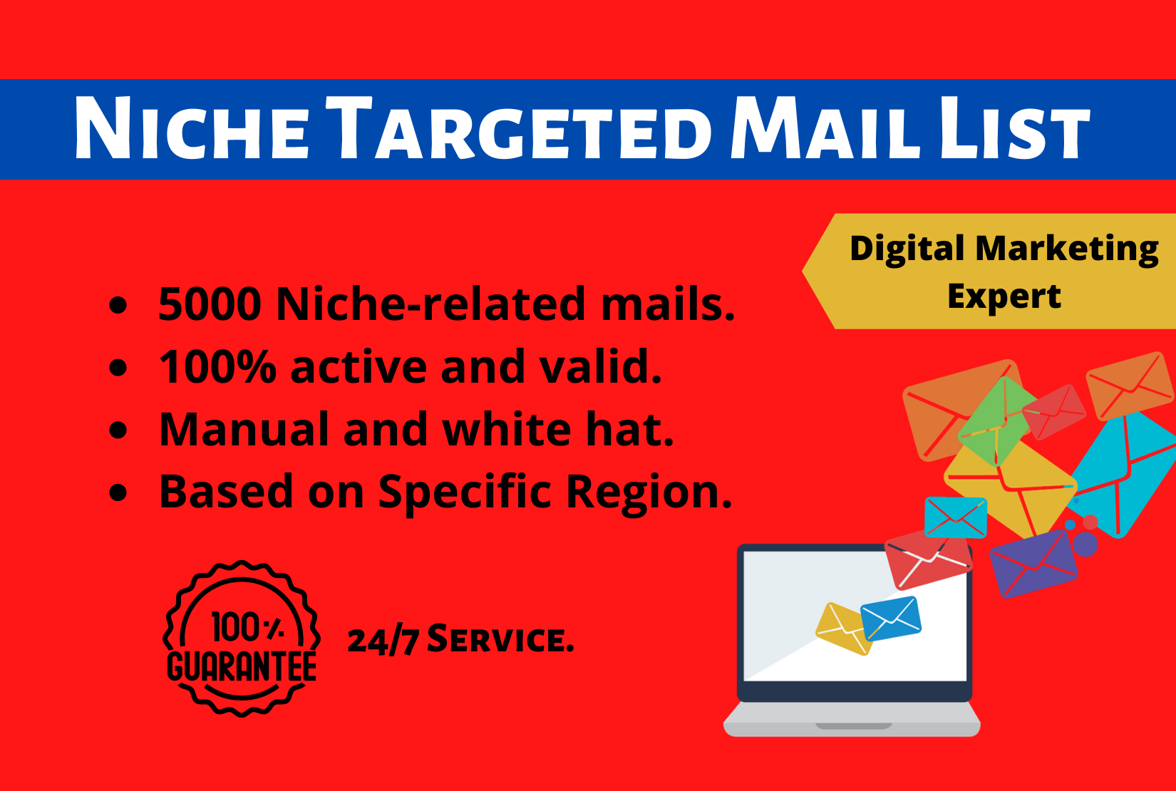 I will collect 5000 verified Niche targeted active mail list