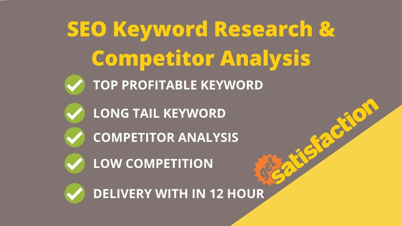 I will do profitable SEO keyword research and competitor analysis 24h