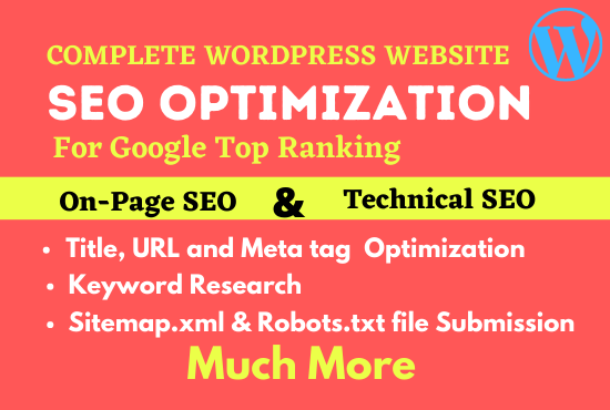Complete on page SEO optimization for wordpress website