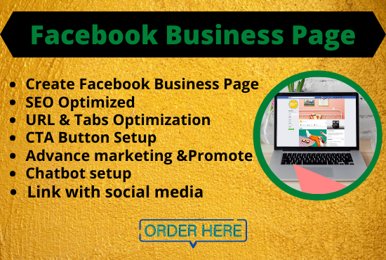 Create,  manage & promote a SEO optimized Facebook Business page