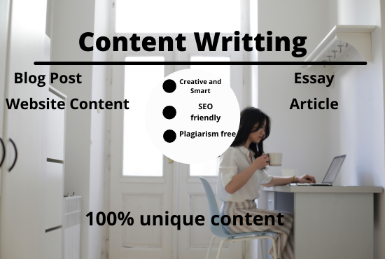I will write 1200 words genuine SEO friendly article writing,  blog post and website content