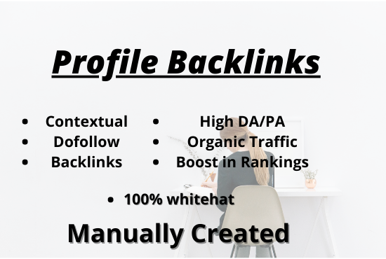 I'll do 50 dofollow profile backlinks with excel sheets. With moneyback guarantee
