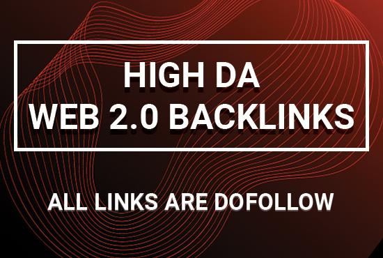 build 50 dofollow high authority web 2 0 backlinks
