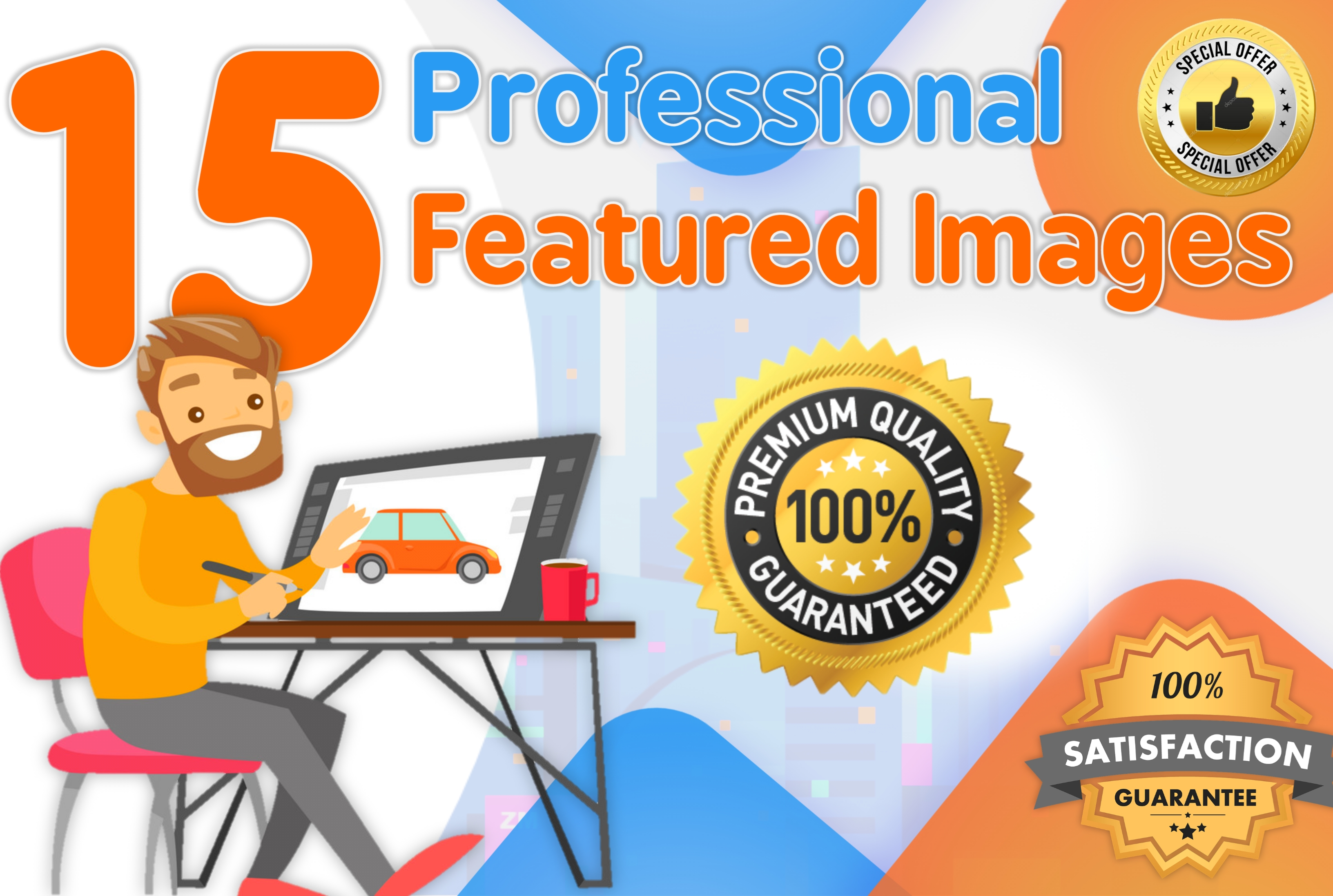 I Will Design 15 Professional Featured Blog Post Images