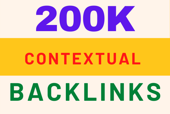 do 200k high quality contextual seo backlinks for website ranking
