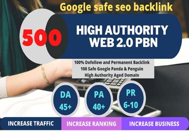 Get permanent 500 Unique Sites DA 50+ PA 35+ PR 6+ Web 2.0 homepage unique site