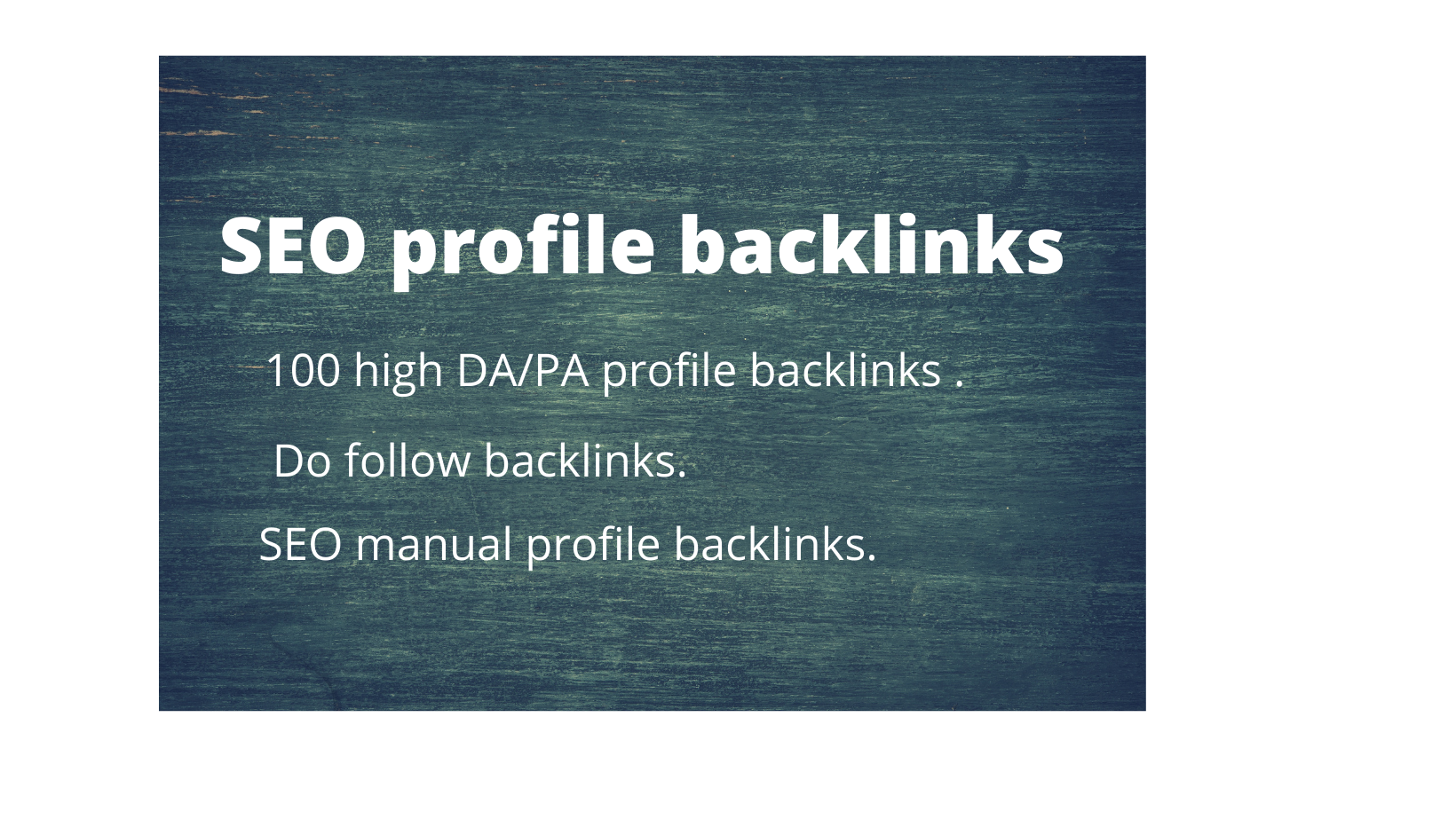 I will do 100 high DA/PA profile backlinks for SEO ranking.