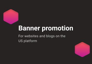 Banner promotion for websites/blogs