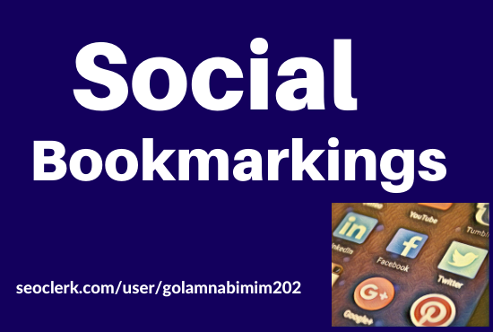 Get 50 High Quality Manually created Social Bookmarking.