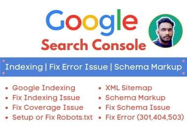 Fix Google Search Console Errors,  Indexing,  Robots txt,  XML Sitemap,  Schema Errors