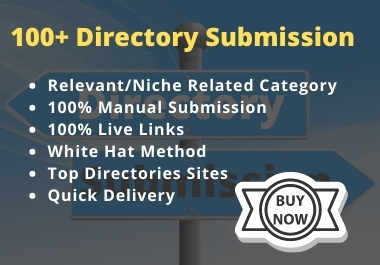 100 Manually Directory Submission on Relevant Category PR3 up to PR9
