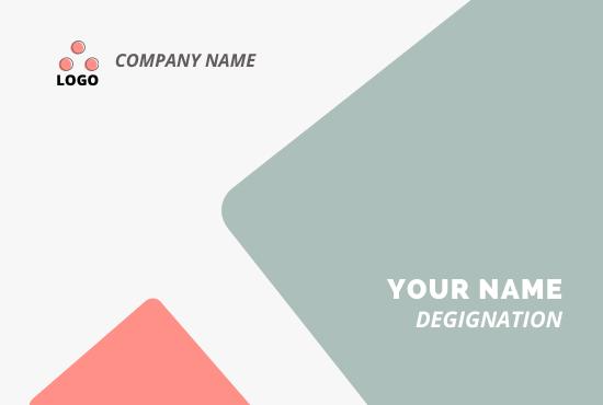 I will do creative & custom business card design.