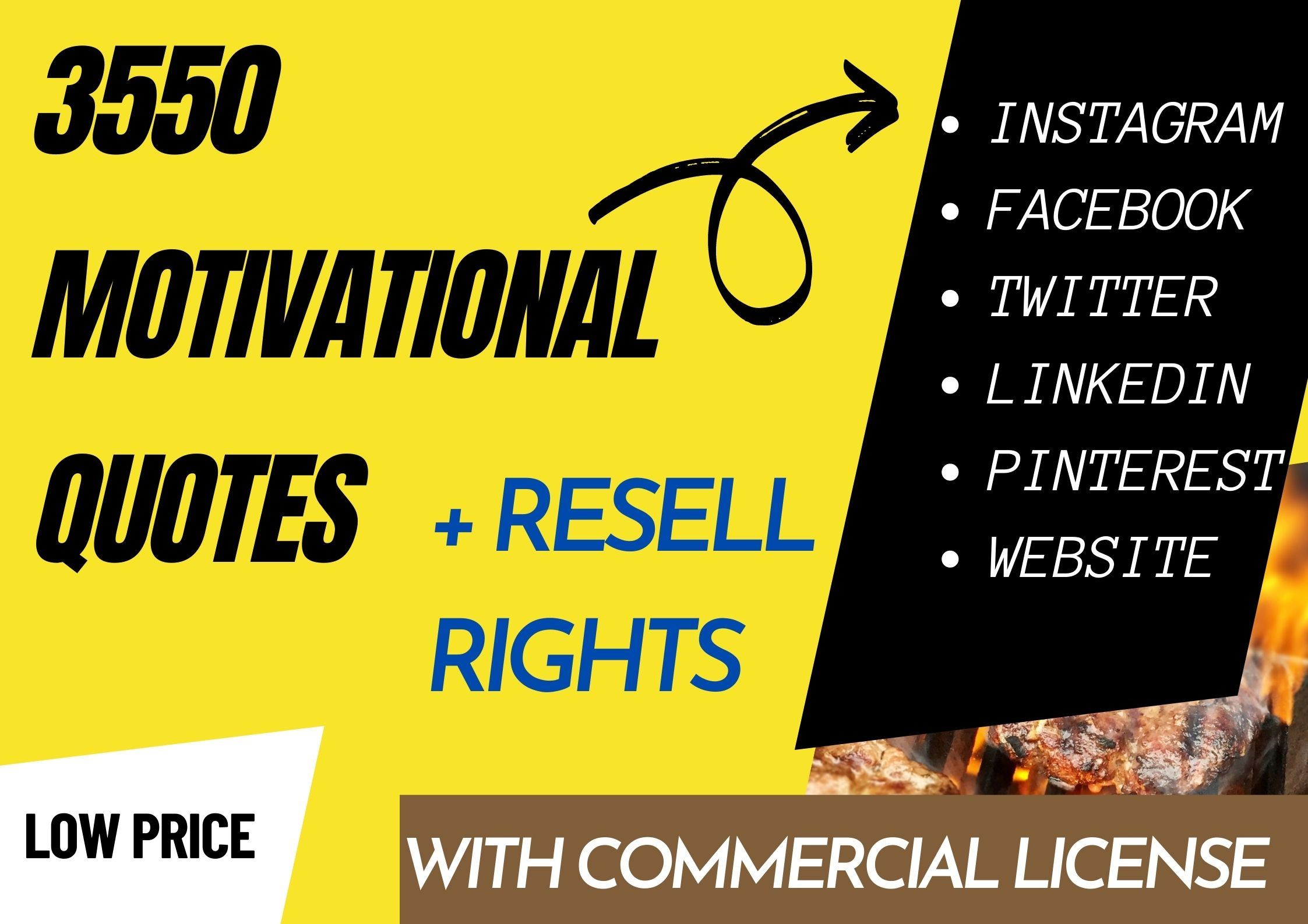 I will Provide 3550 Motivational Image Quotes With Resell Rights