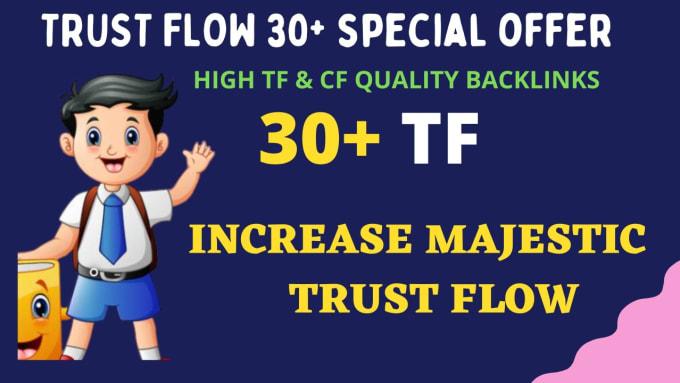 I will increase majestic trust flow 20 plus guaranteed