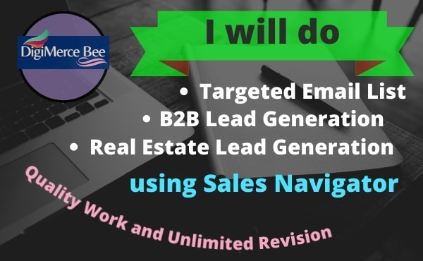I will do b2b lead generation for your business professionally