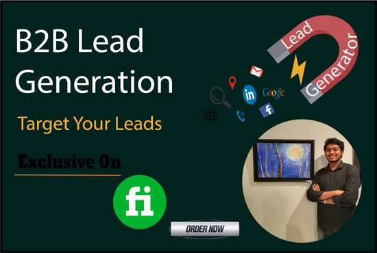 I will do b2b lead generation, Email list and Web research for your targeted business