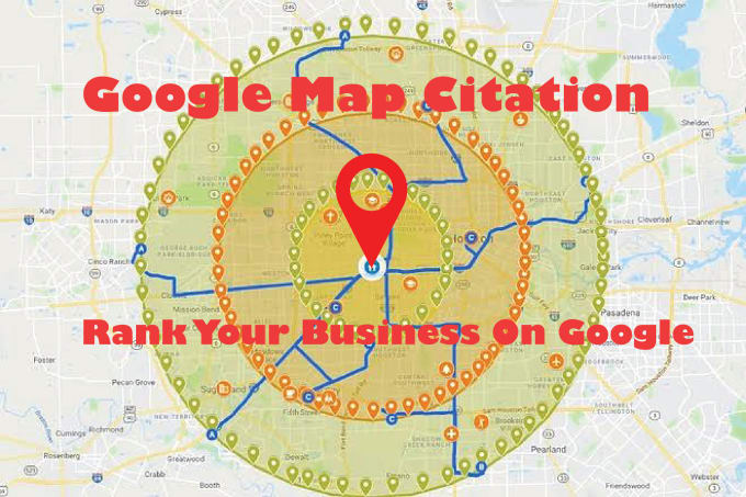 Create 500 google map point listing with local SEO