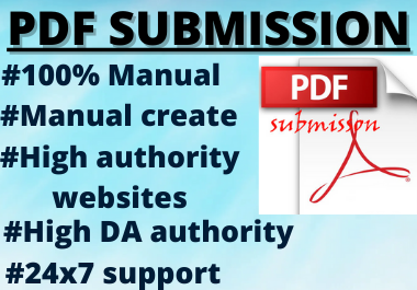 20 pdf submission permanent backlinks high authority