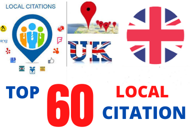 I will create the best UK 60 local citations to rank your business