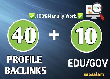 1 Days Delivery 40 PR9+ 10 High Authority Dofollow EDU Gov Profile Backlinks