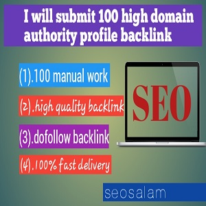 Create 100 High DA Profile Backlinks Manually For SEO Ranking
