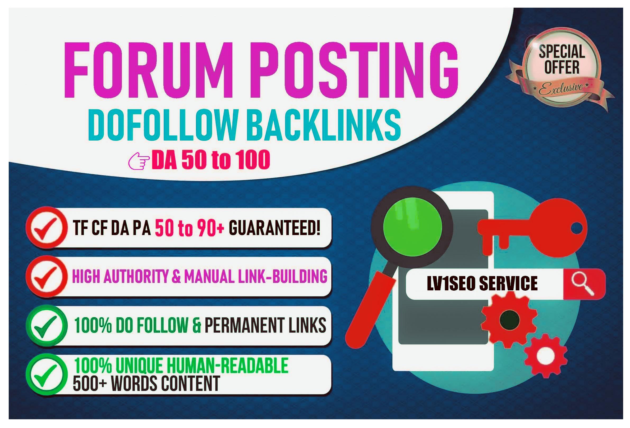 400 Forum Posting Dofollow Backlinks