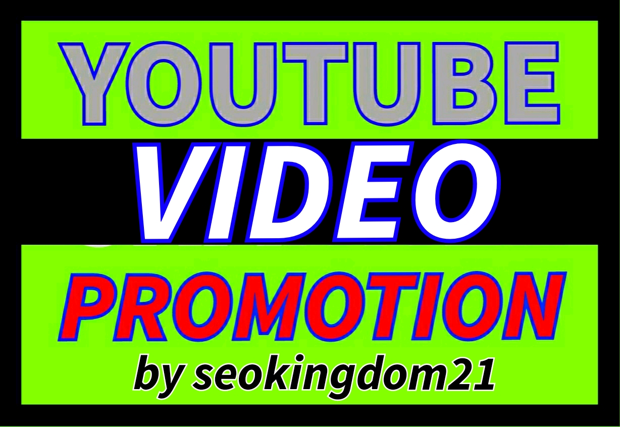 I will do youtube video promotion by seokingdom21
