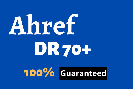 I will increase domain rating ahrefs DR 0 to 70 plus