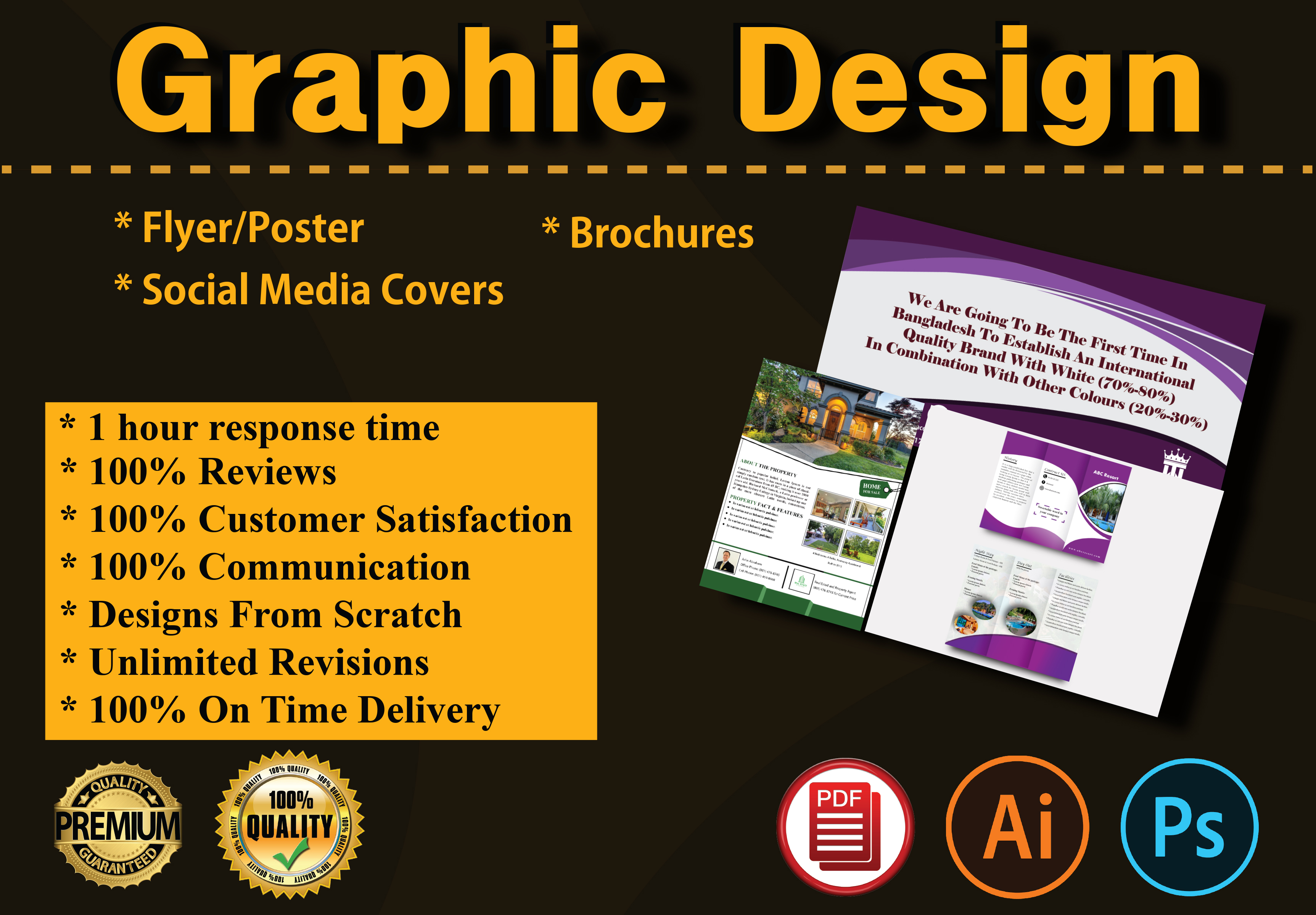 I will Do Amazing Creative Flyer Brochure and Social Media Cover Design in 24 hours for you