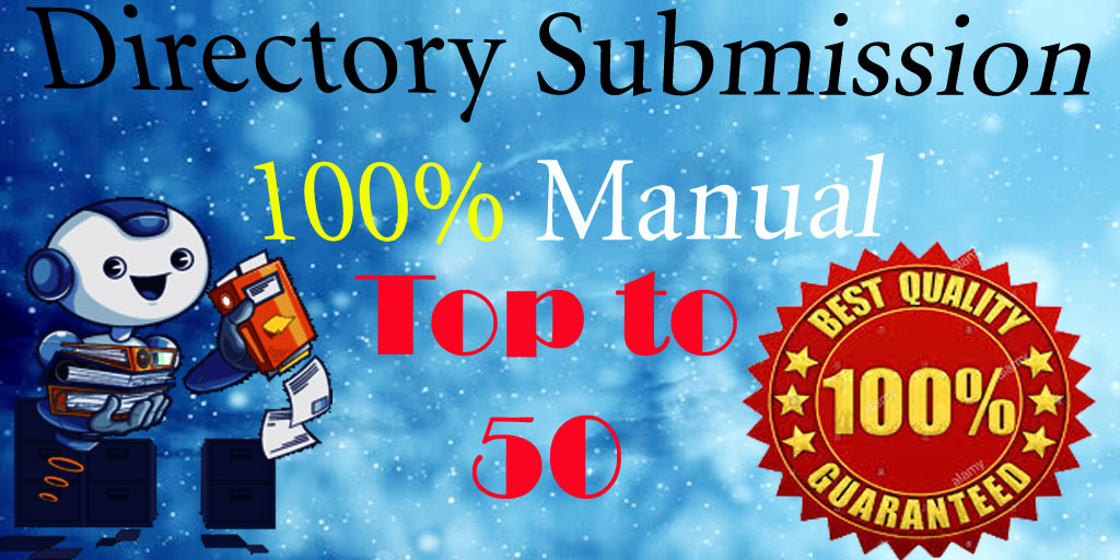 I will do manually 50 high directory submission