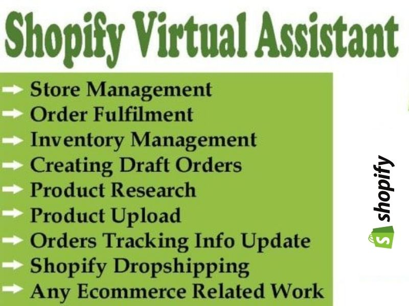 I will be your shopify virtual assistant for product listing and store manager. per 5 hour