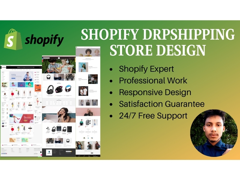 I will create shopify dropshipping store or shopify website