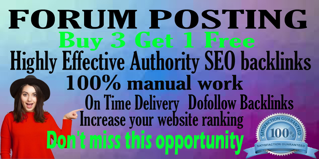 60 Forum Posting Link building I will do manually posts on your forum posting