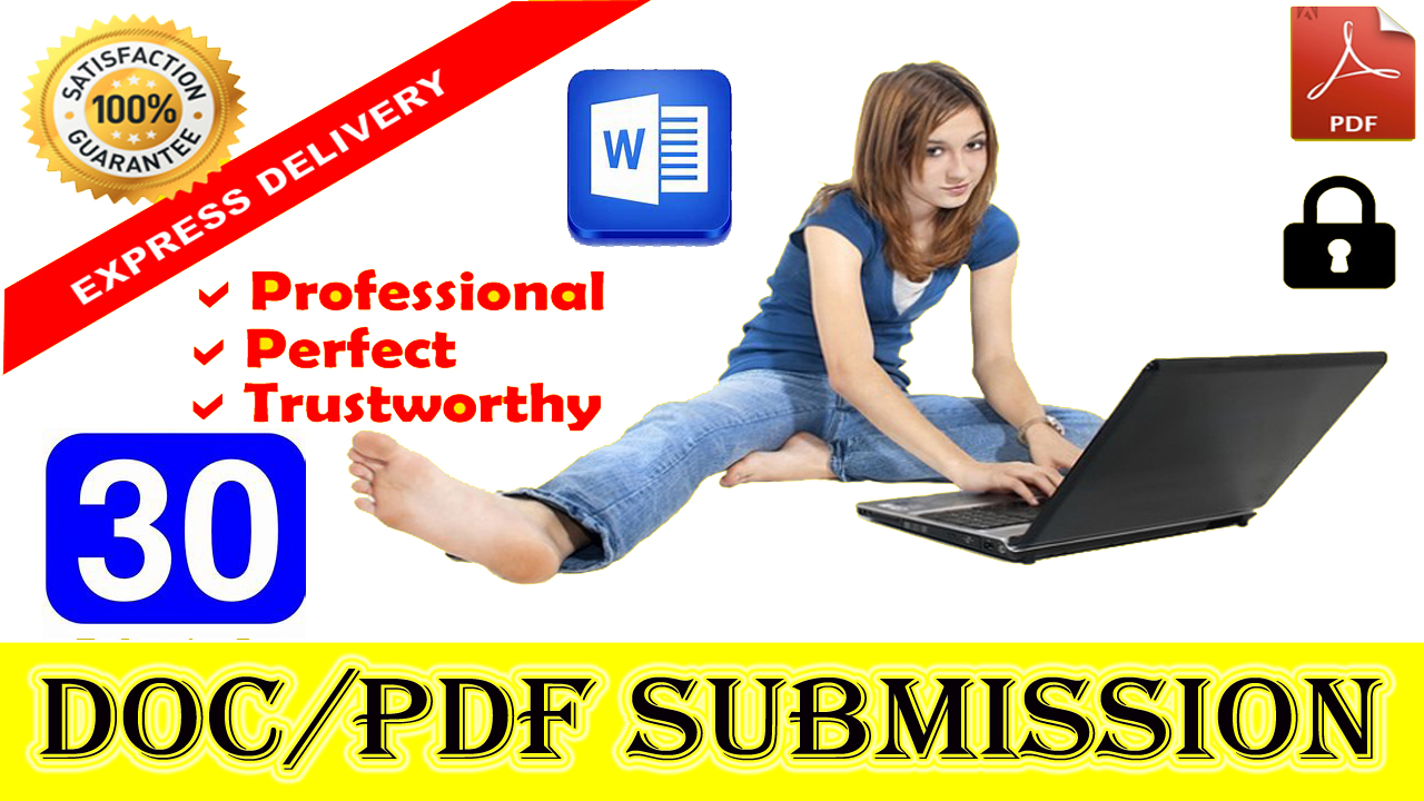 I will do Manually 30 Doc PDF submission with high authority SEO backlinks