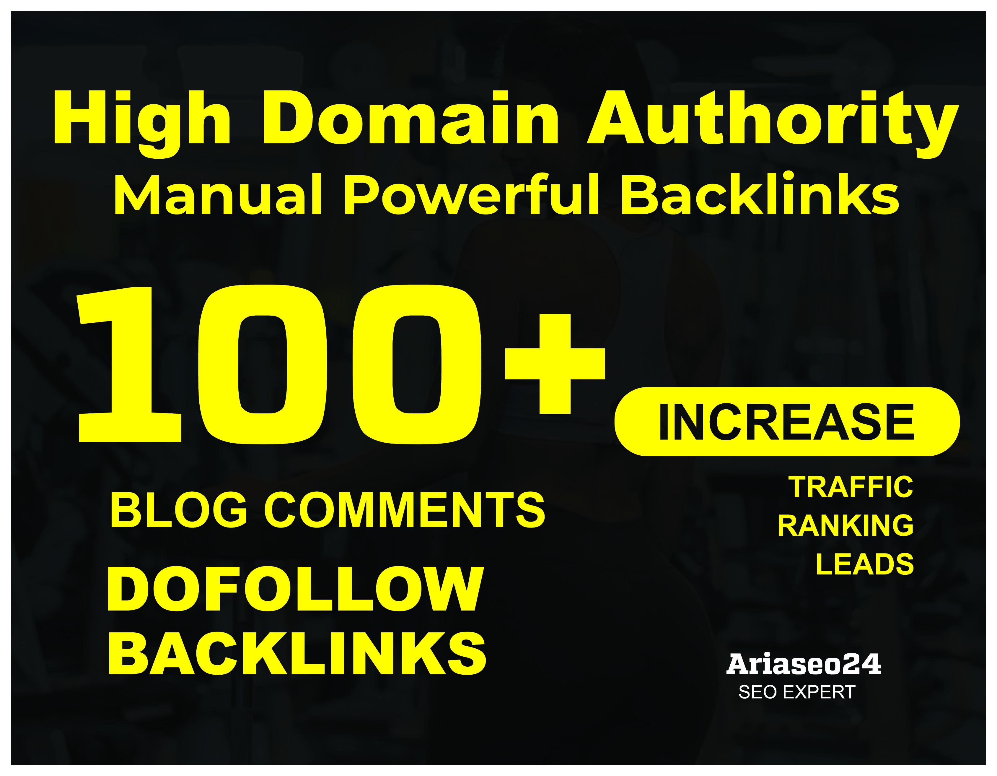 100+ HQ Blog Comments Backlinks For Google Ranking.