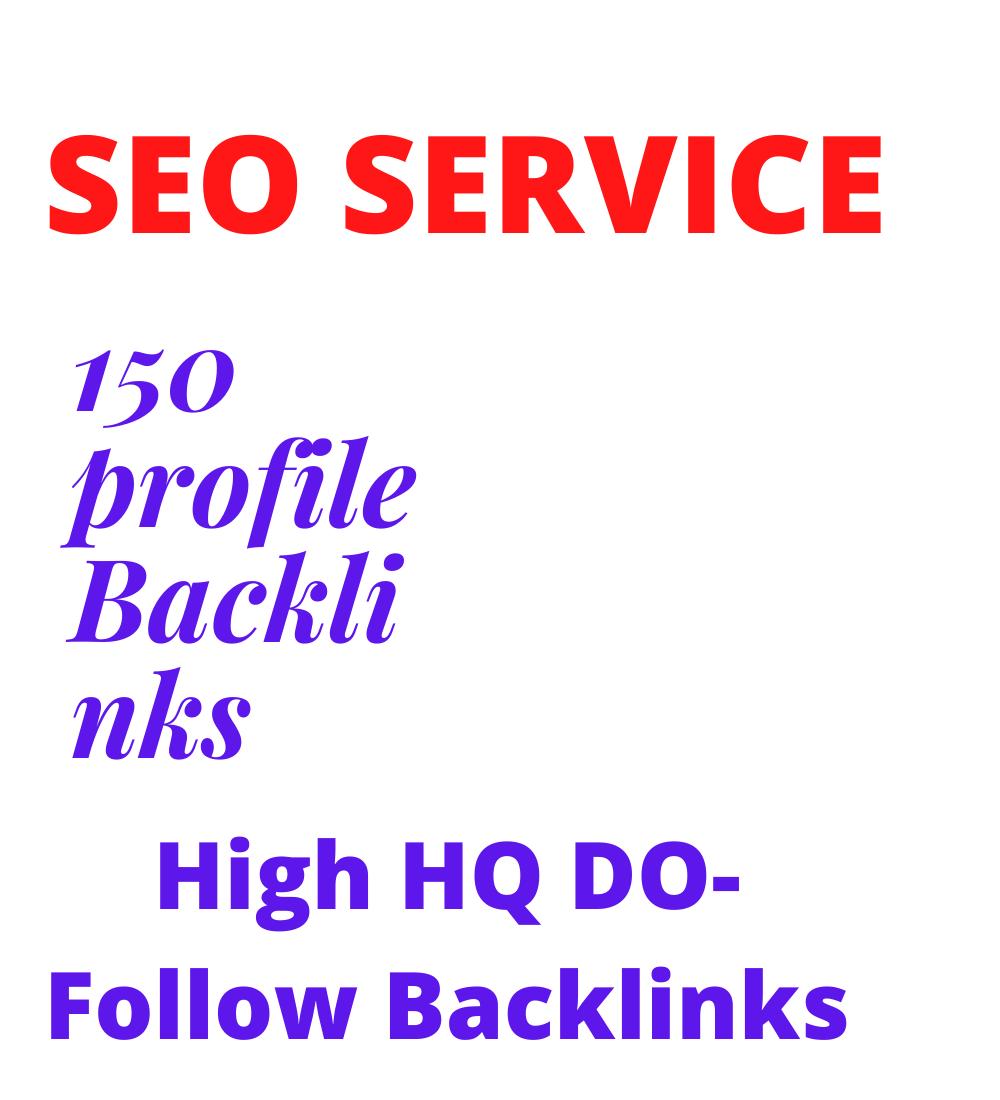 150 HQ profile backlinks,  manual link building
