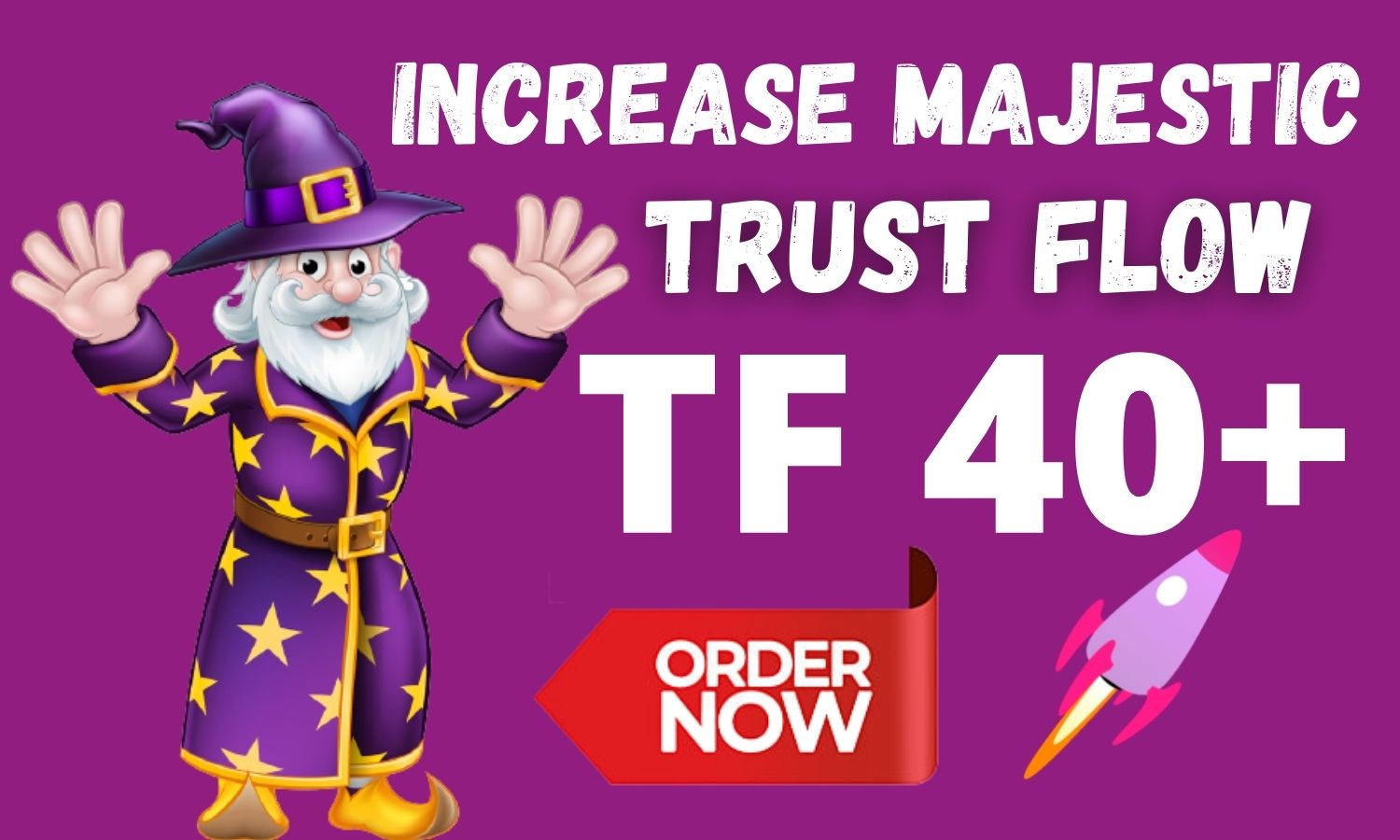 I will increase trust flow TF 40 plus Fast and High Quality Backlinlks