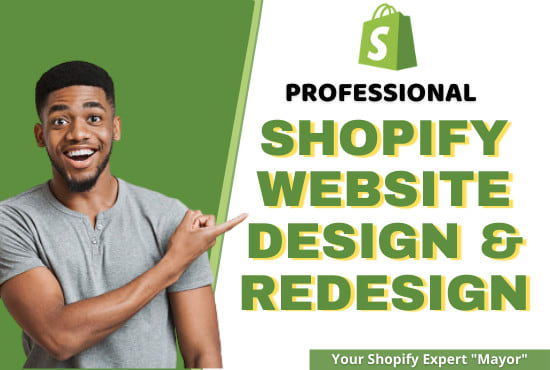 I will do shopify website redesign shopify design shopify store redesign,  website