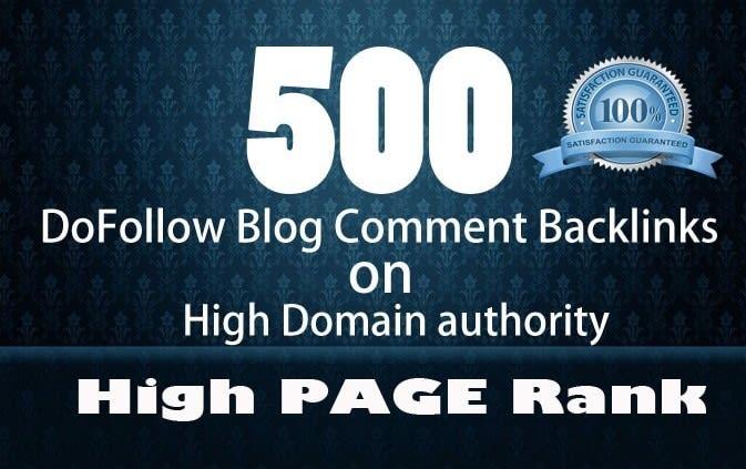 I will create 500 manual dofollow backlinks