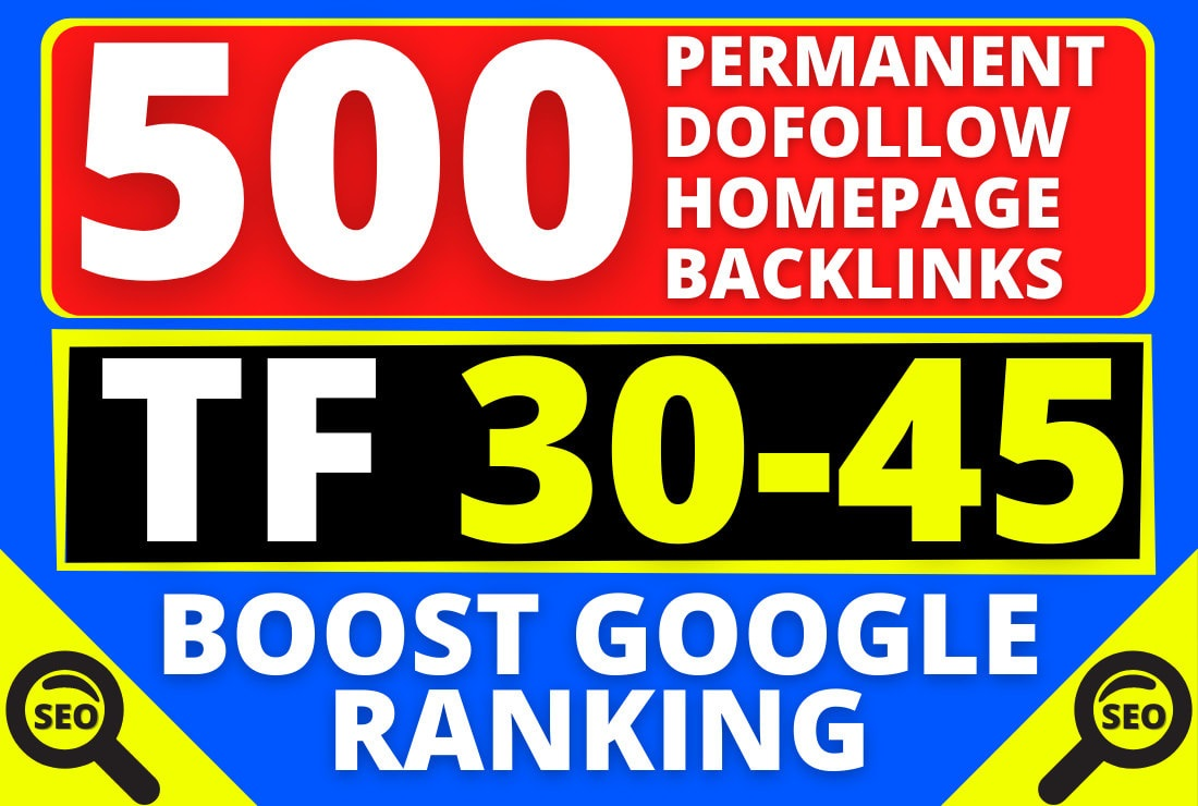 I will create 500 high tf dofollow off page SEO backlinks