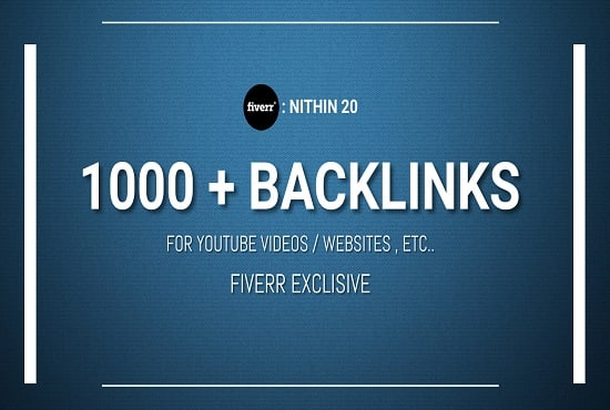 I will create 1000 backlinks for your video and website
