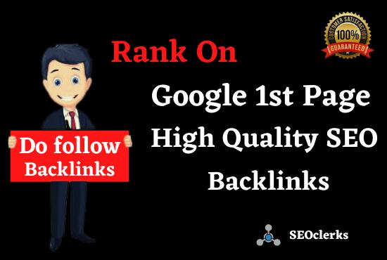 Rank On Google 1st Page 50 SEO Manual High Authority Backlinks,  Web 2.0 & Profile Bookmarking