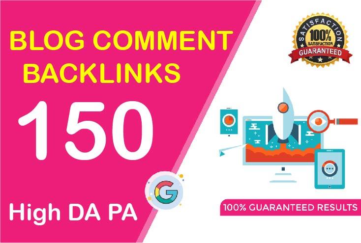 i will create 150 blog comment high da pa backlinks