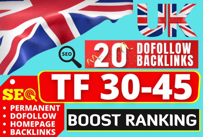 I will create 10 High TF 30+ UK Backlinks SEO backlinks from UK sites