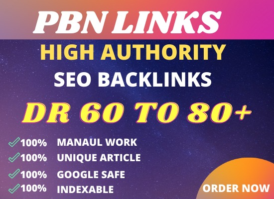 I will build 25 backlinks powerful DR 50 to 60 backlinks for seo