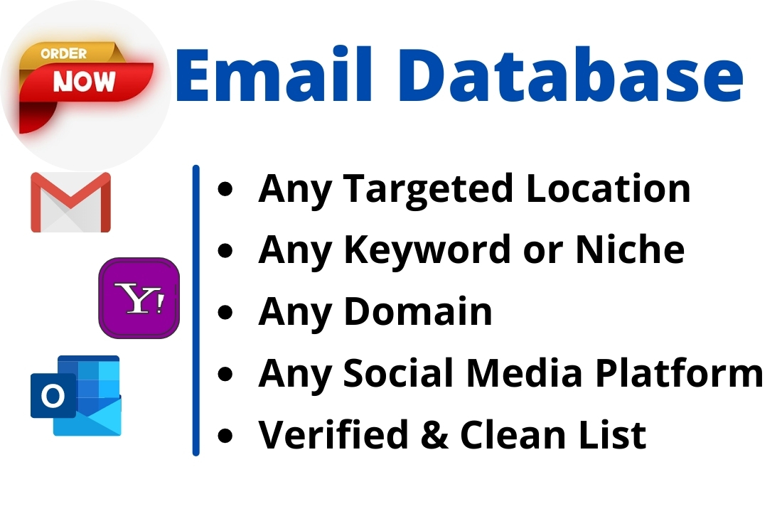 I will do bulk email listing & Provide a valid List from any Niche & Location for Campaign