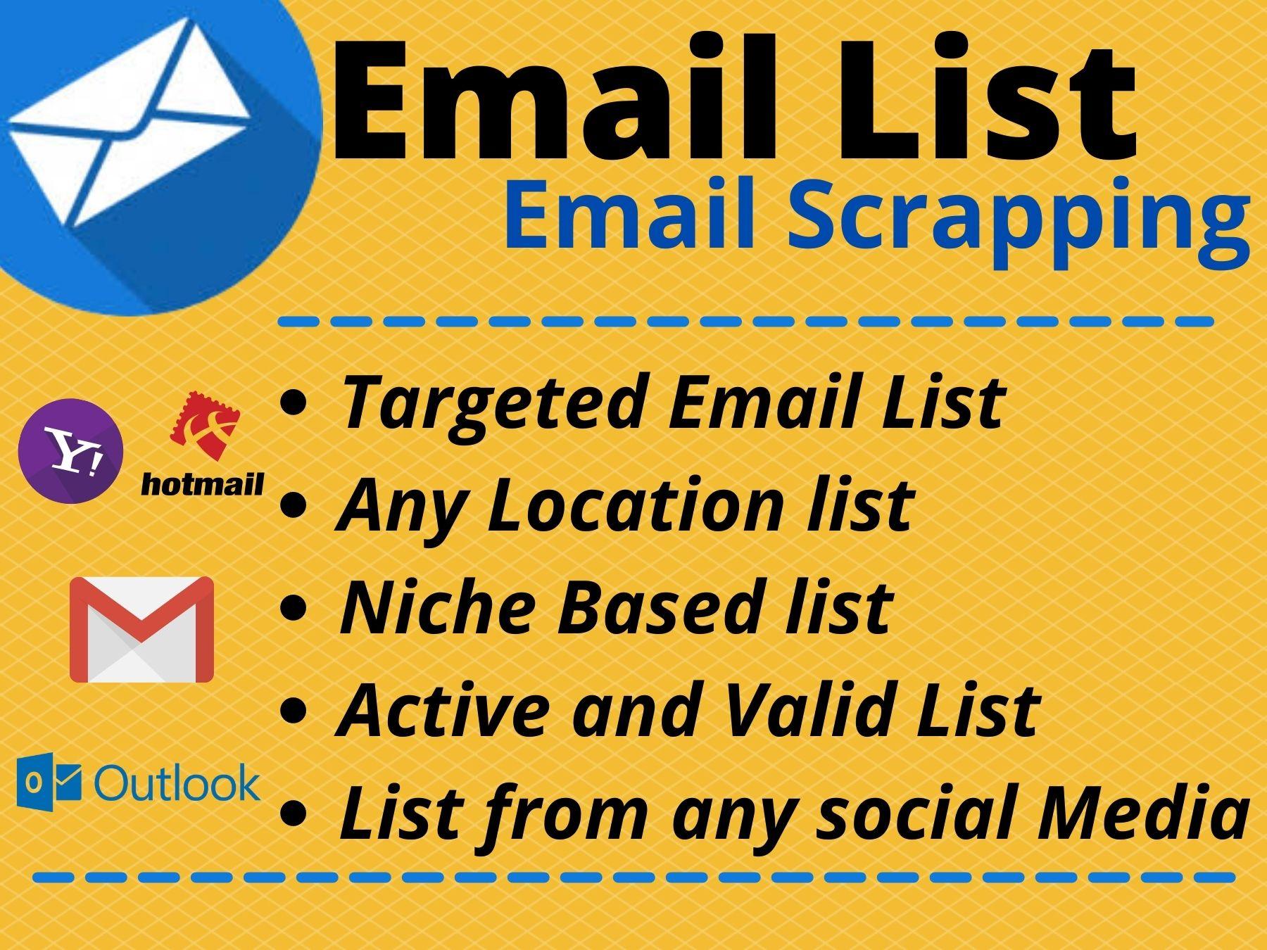 I will provide 50k active and valid Email list from your targeted niche and location